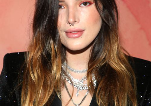 Bella Thorne ombre hair and cbr nose piercing