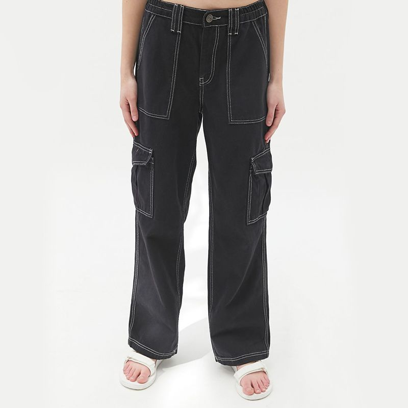 High-Waisted Contrast Stitch Skate Jean
