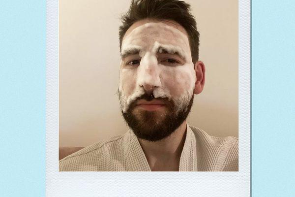 E.l.f. Cosmetics Hydrating Bubble Mask on Bryan Levandowski