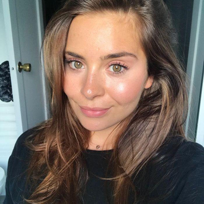 Emily Algar with makeup