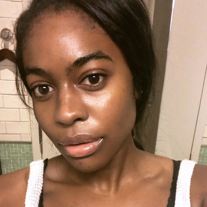 Maya Allen with no makeup