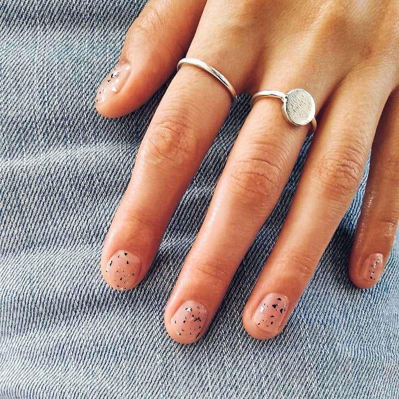 Simple Nail Designs Foil Flecks