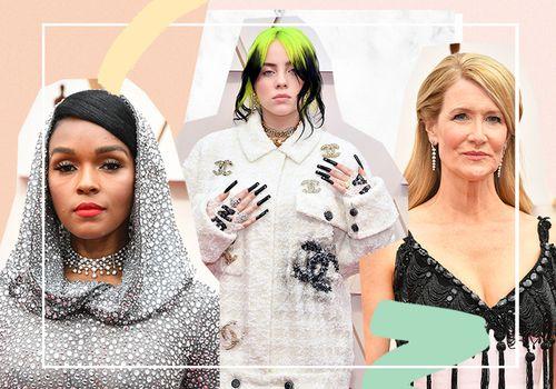 Janelle Monae, Billie Ellish, Laura Dern at the 2020 Osars