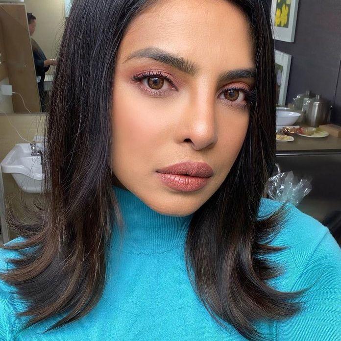 Priyanka Chopra Jonas with flip-out ends