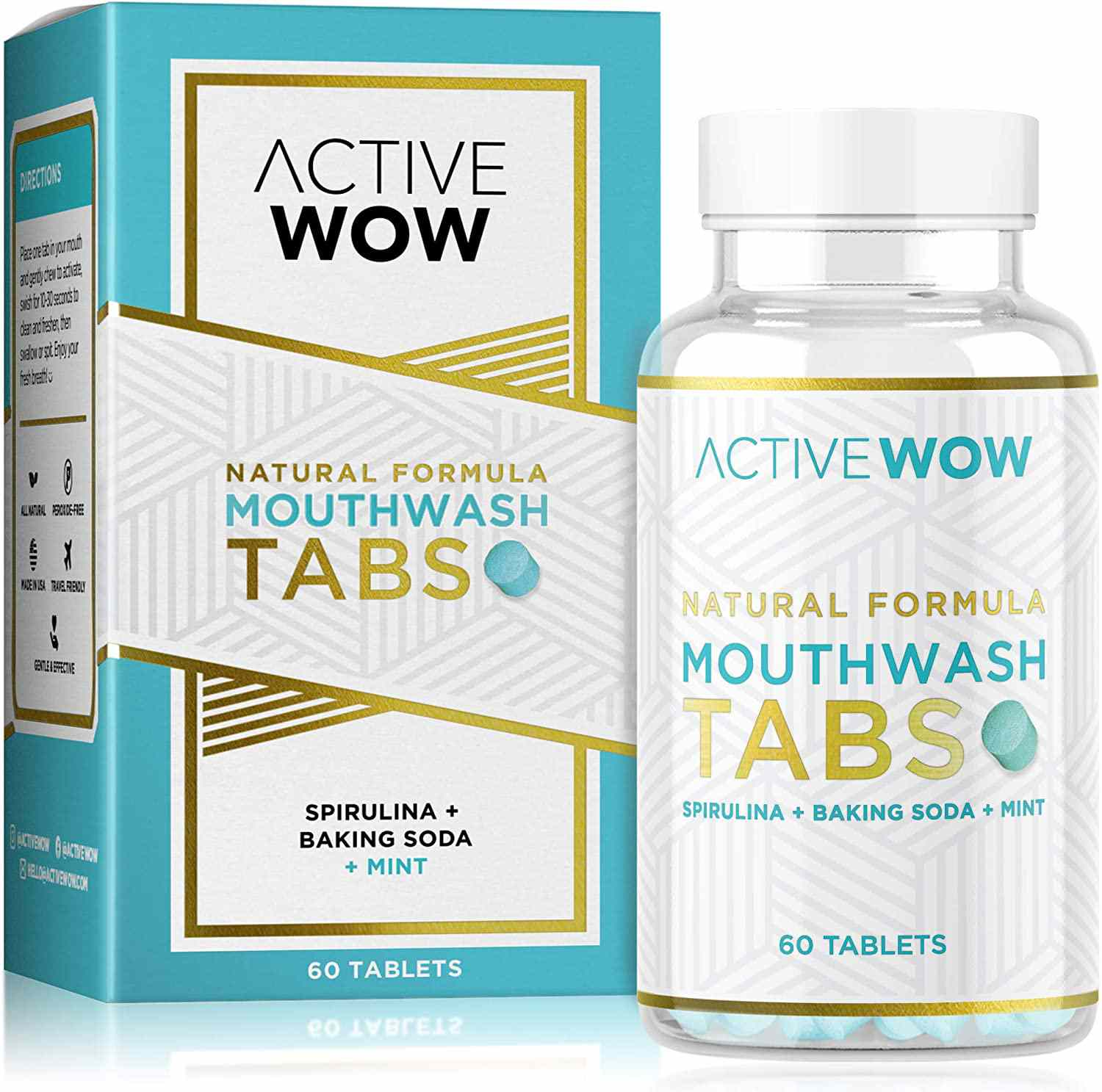 Active Wow Mouthwash Tabs
