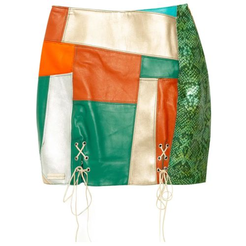 Paloma Lira Upcycled Leather Patchwork Skirt