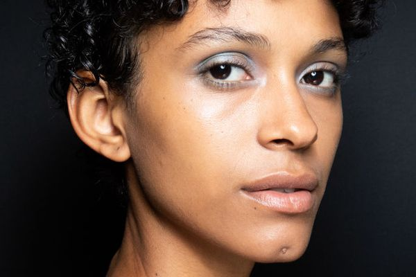 woman with bronze glow