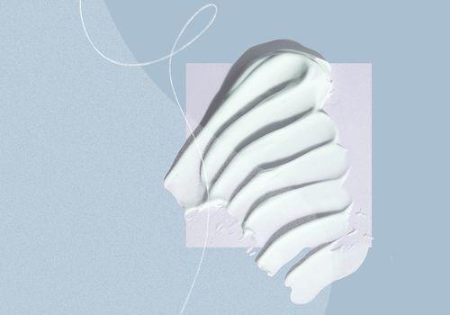 ouai body lotion texture on white background