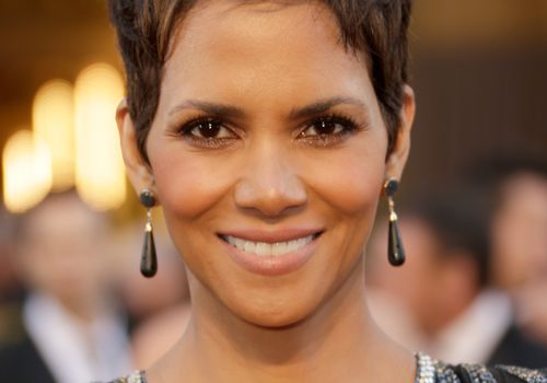 Halle Berry with a textured pixie haircut