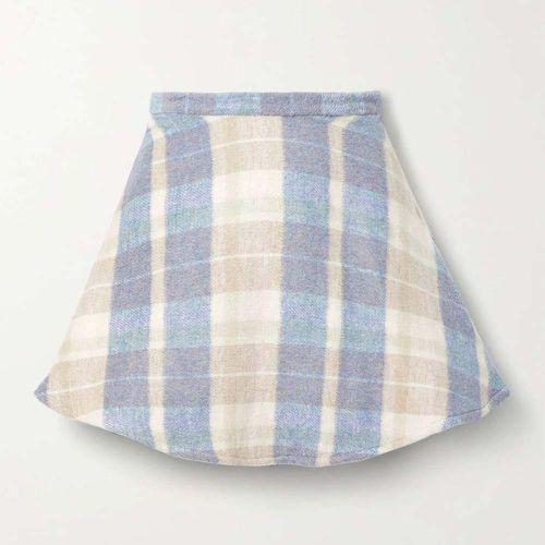 Blue Orson Checkered Flannel Mini Skirt ($345)