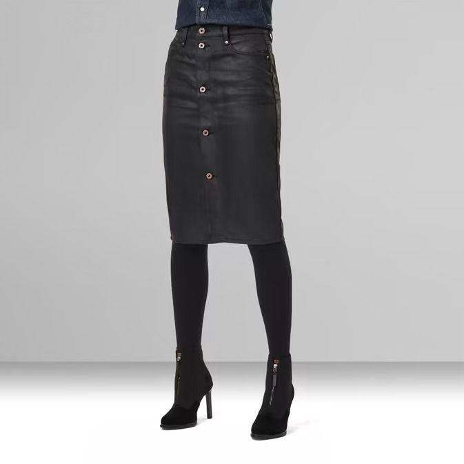 G-Star Raw Noxer Navy Button Pencil Skirt