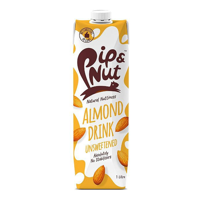 Pip & Nut Almond Drink Unsweetened 1L (Pack of 6)