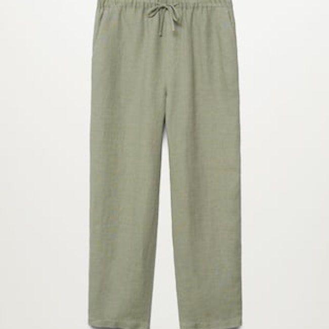 Mango 100% Linen Pants