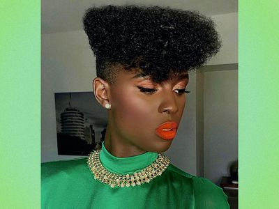 Actress Jodie Turner-Smith wears a textured fade haircut.