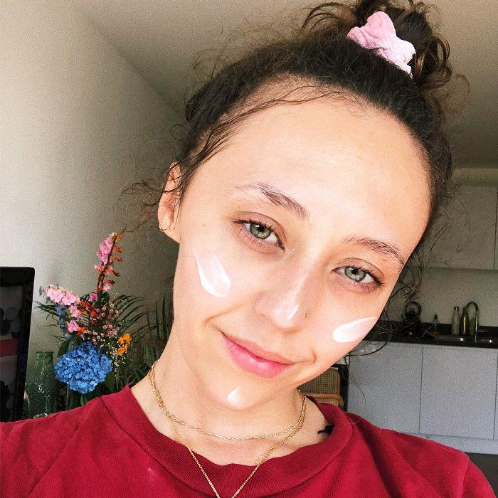 best La Mer moisturisers: Shannon Peter selfie