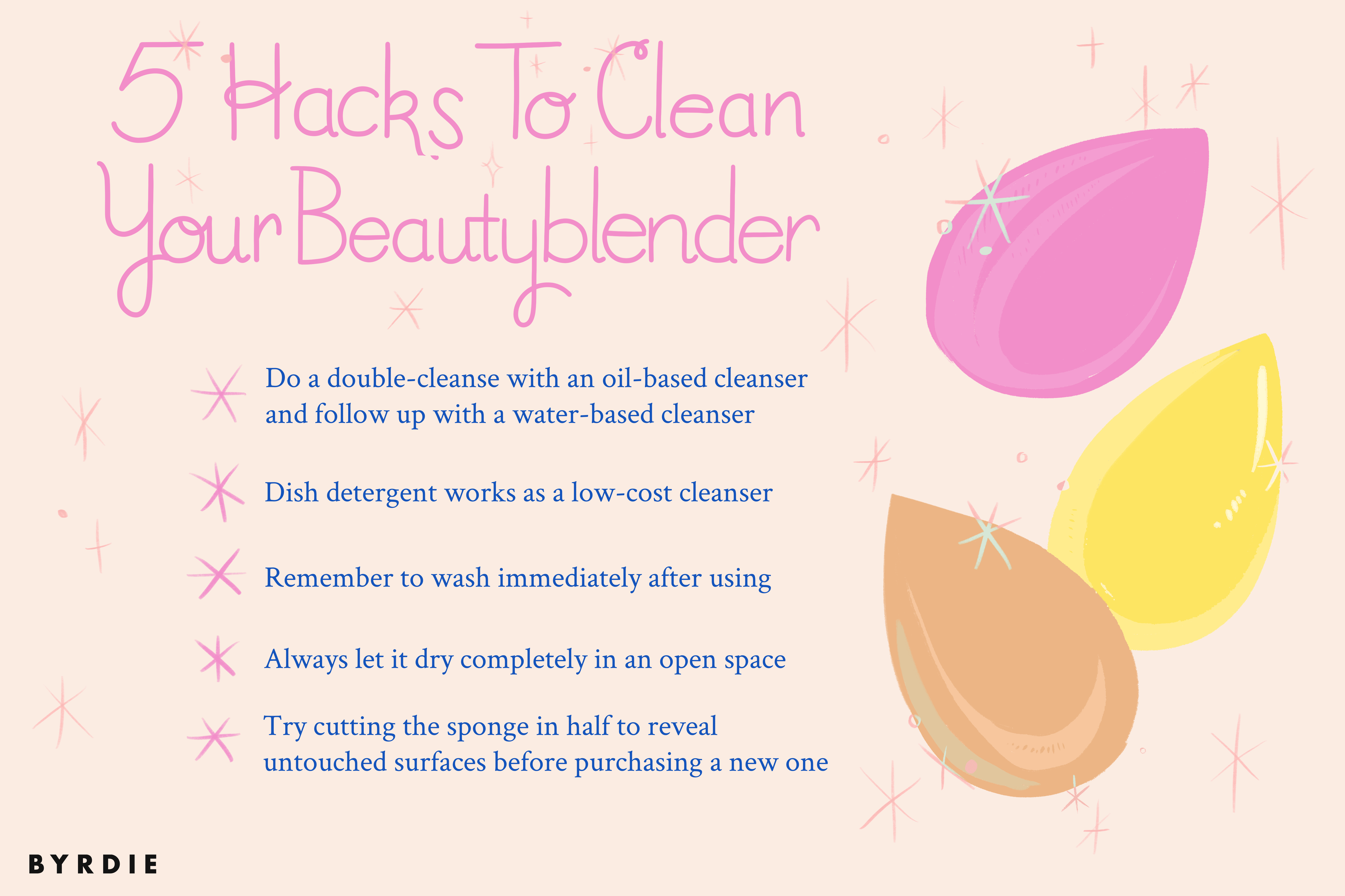 6 Easy Hacks To Clean Your Beautyblender
