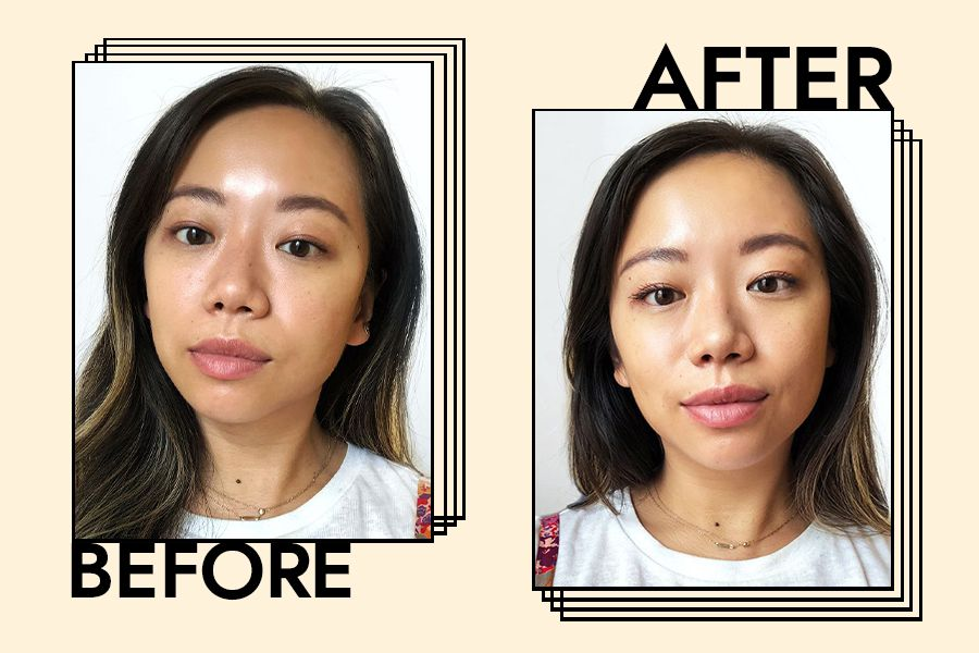 BYRDIE Editorial Director Faith Xue's Before and After using the mascara