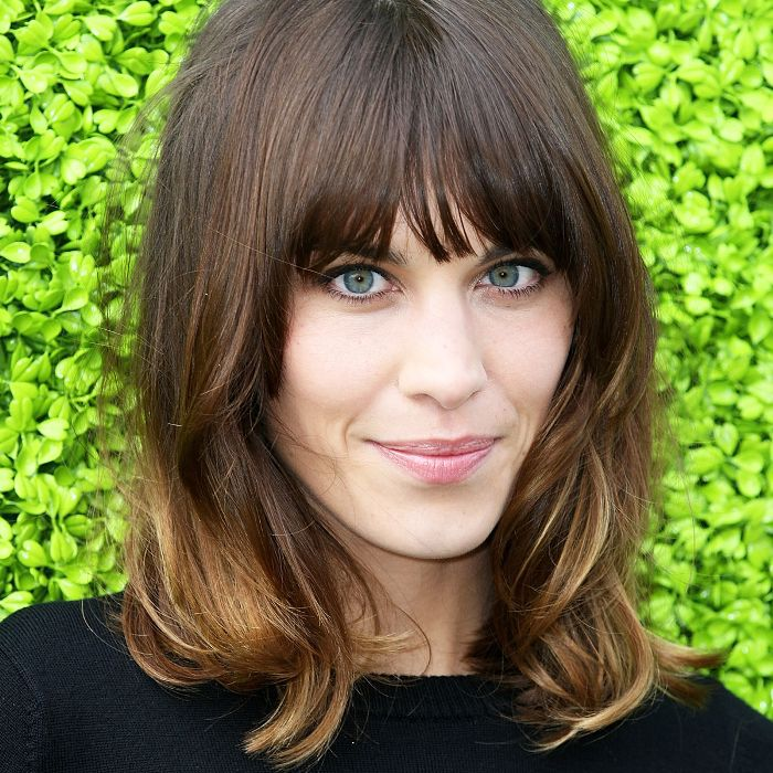 Mid Length Haircuts With Fringe Combos