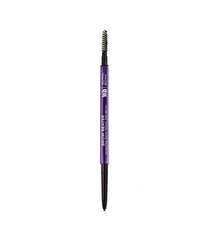 'Brow Beater' Microfine Brow Pencil & Brush - Dark Brown