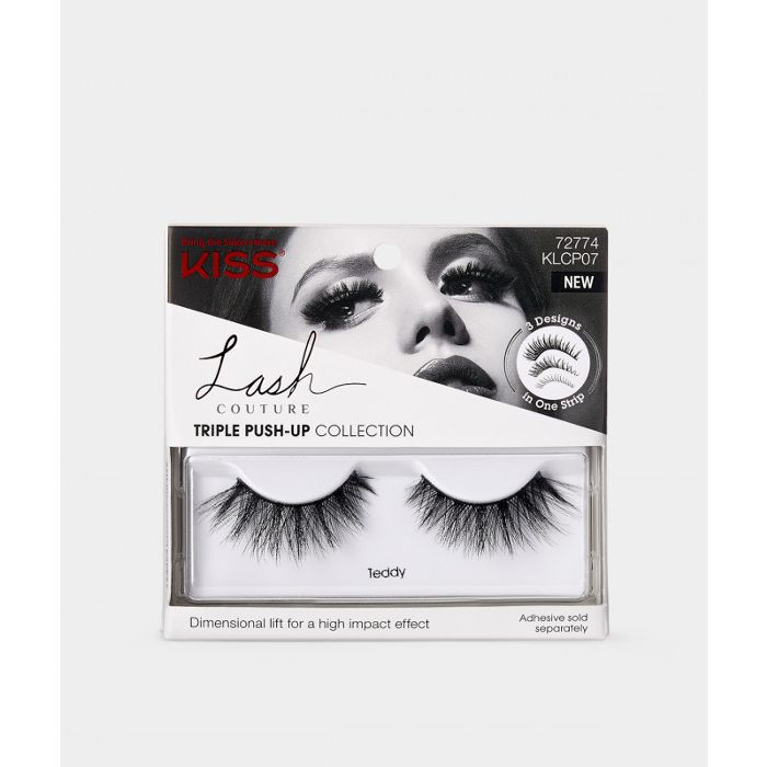 Kiss Lash Couture Triple Push-Up Lashes in Teddy