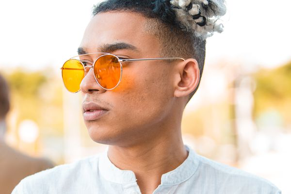man with sunglasses on