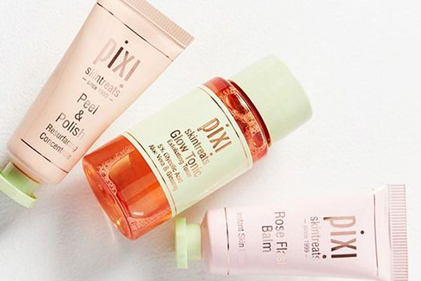 An array of Pixi skincare products