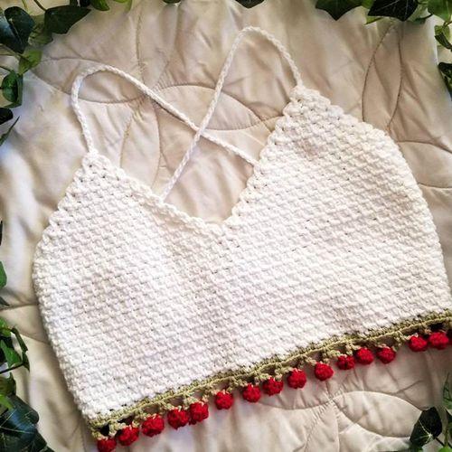 Cherry Bomb Crochet Bralette ($28)