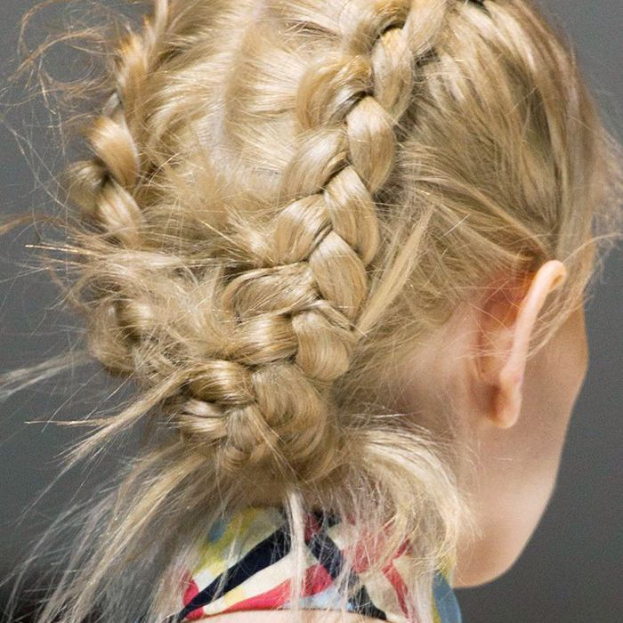Braids: Double French plait tucked under