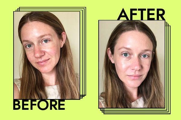 Supergoop Glow Screen Sunscreen Results on Nicole Kliest