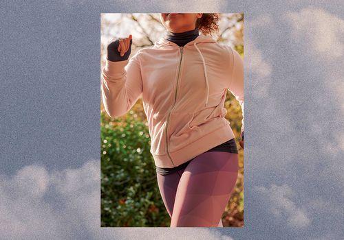 woman doing a light jog