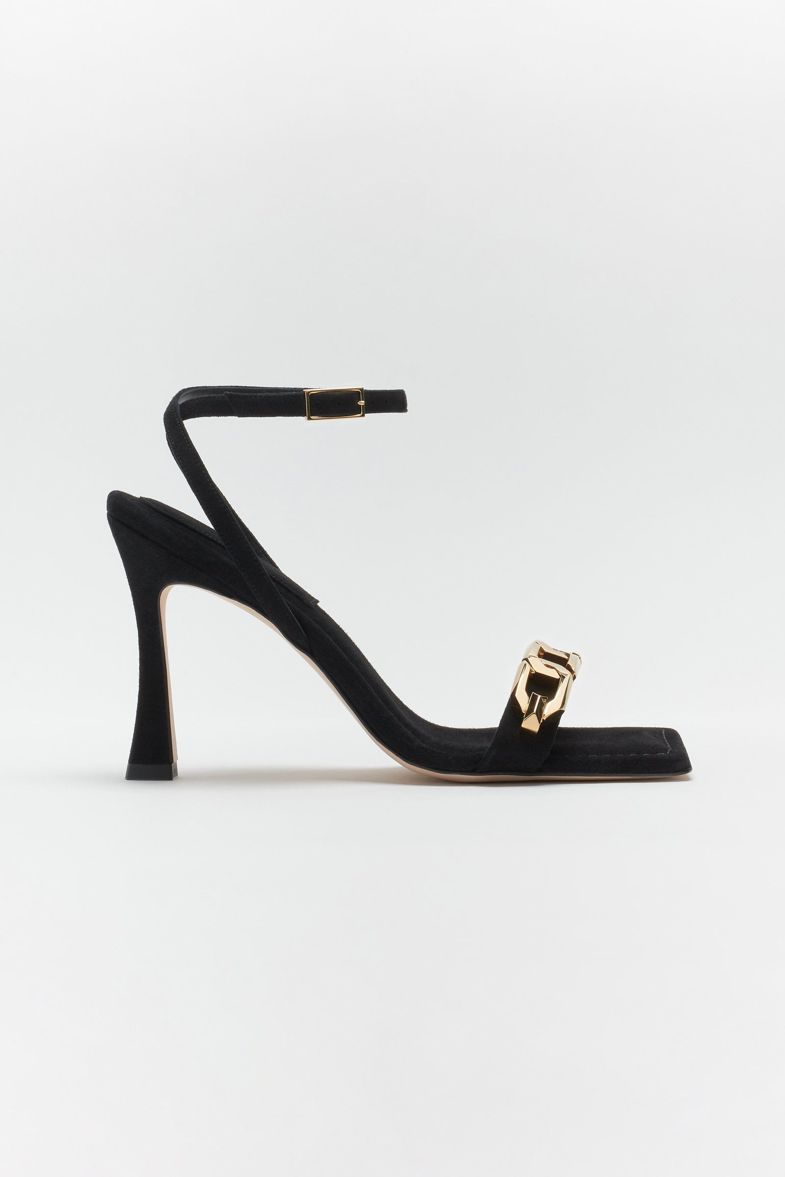 Good American Single Strap Chain Sandal