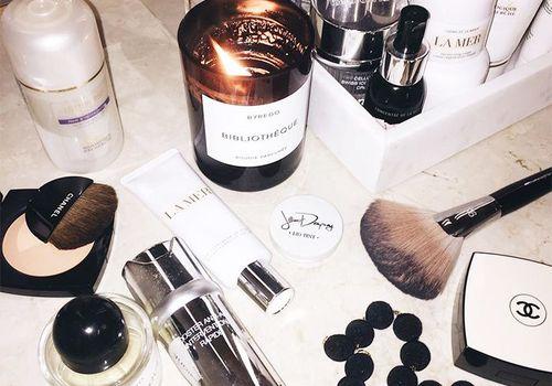 vanity, beauty, skincare