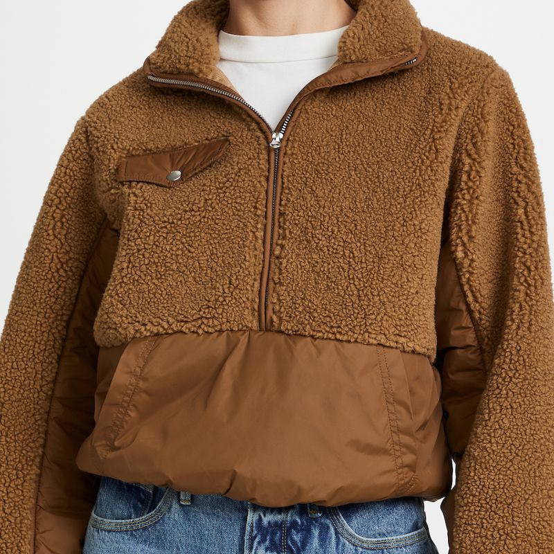Frame Fleece Mix Pullover Jacket