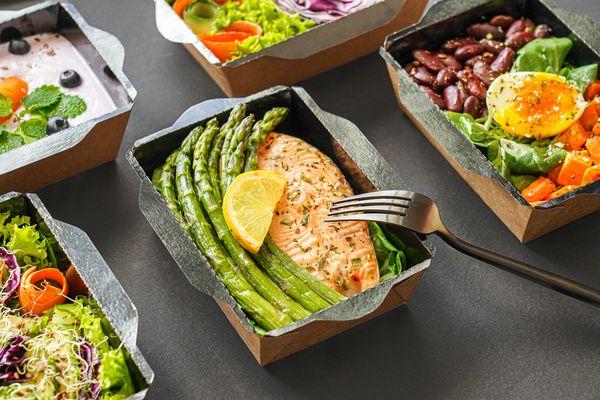 prepared meals in packaging