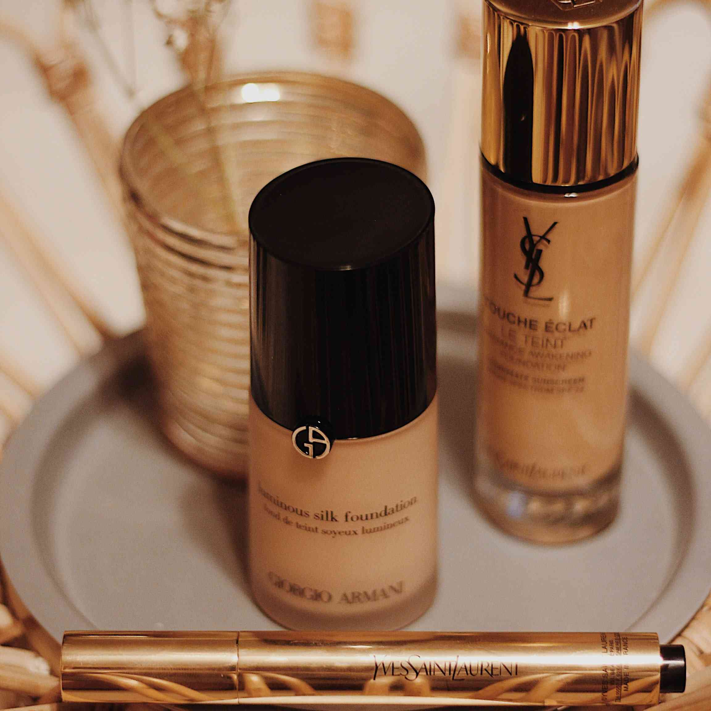 Picture of foundations on vanity