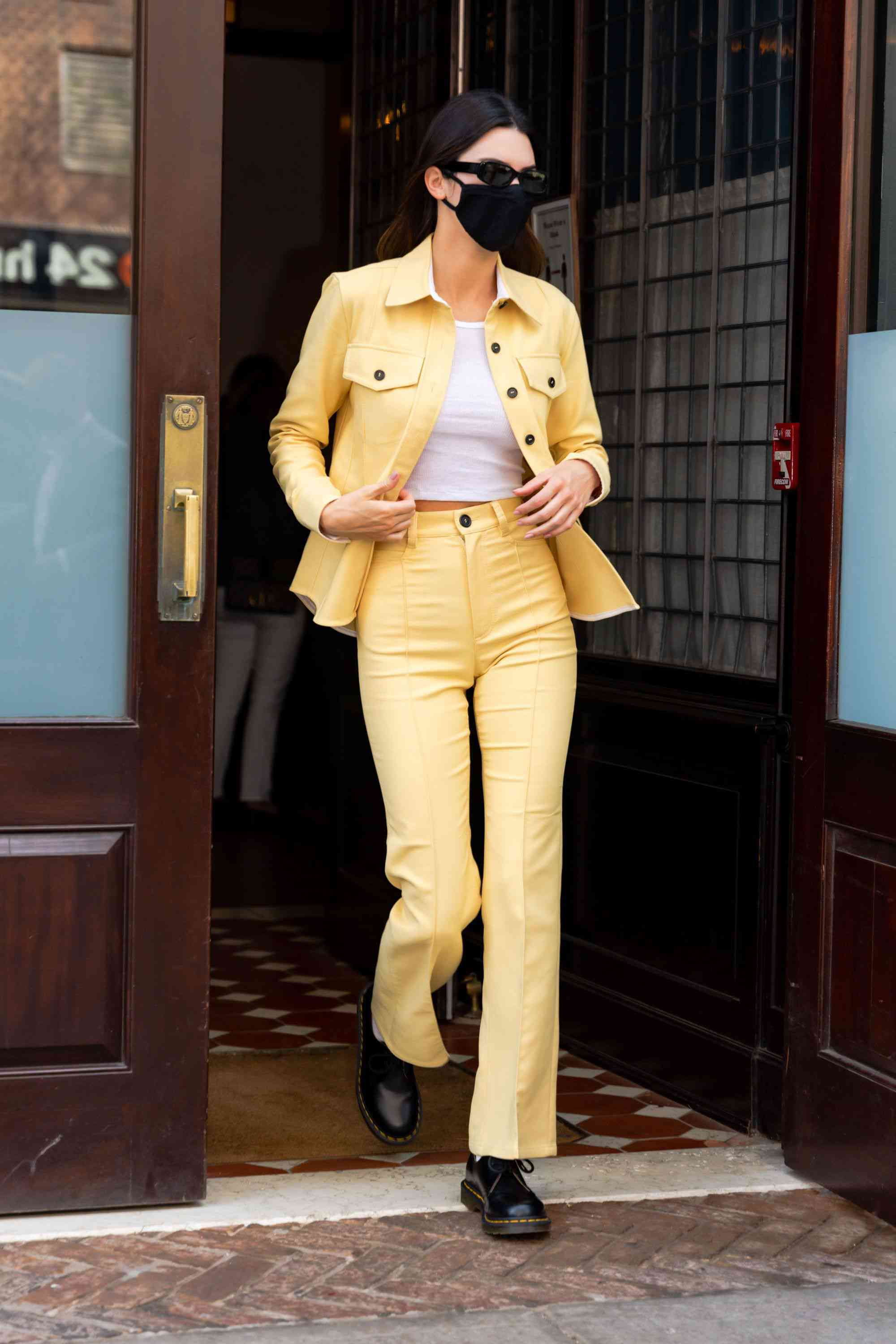 Dr. Martens Outfits Matching Set Kendall Jenner Street Style