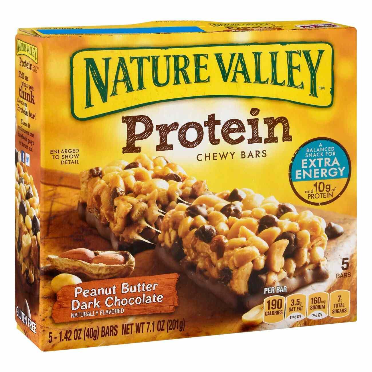 Nature Valley Peanut Butter Dark Chocolate Protein Bars