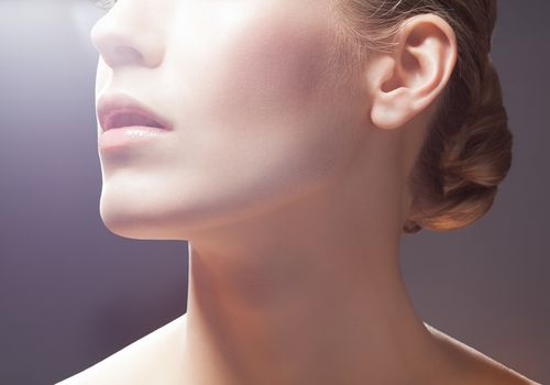 Beauty portrait neck