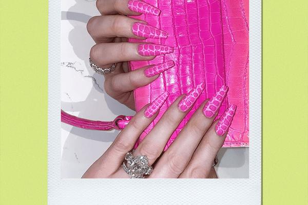 Croc Print Nails