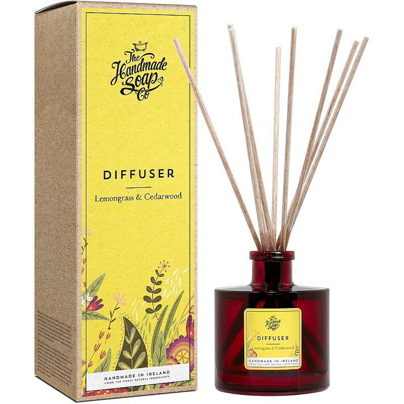 The Handmade Soap Company Reed Diffuser in Lemongrass & Cedwarwood