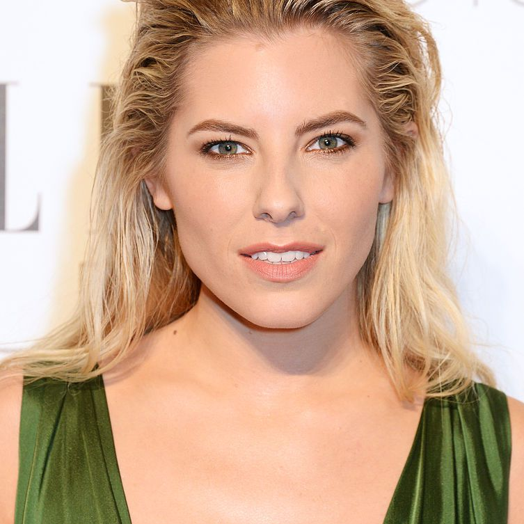 Mollie King with a relaxed brush-back
