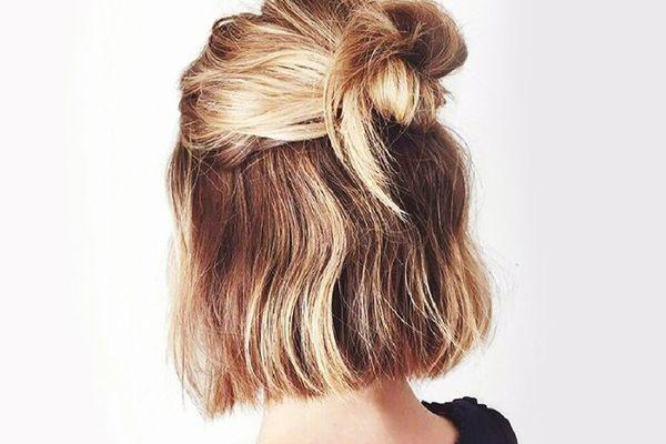 Half-up hairdo
