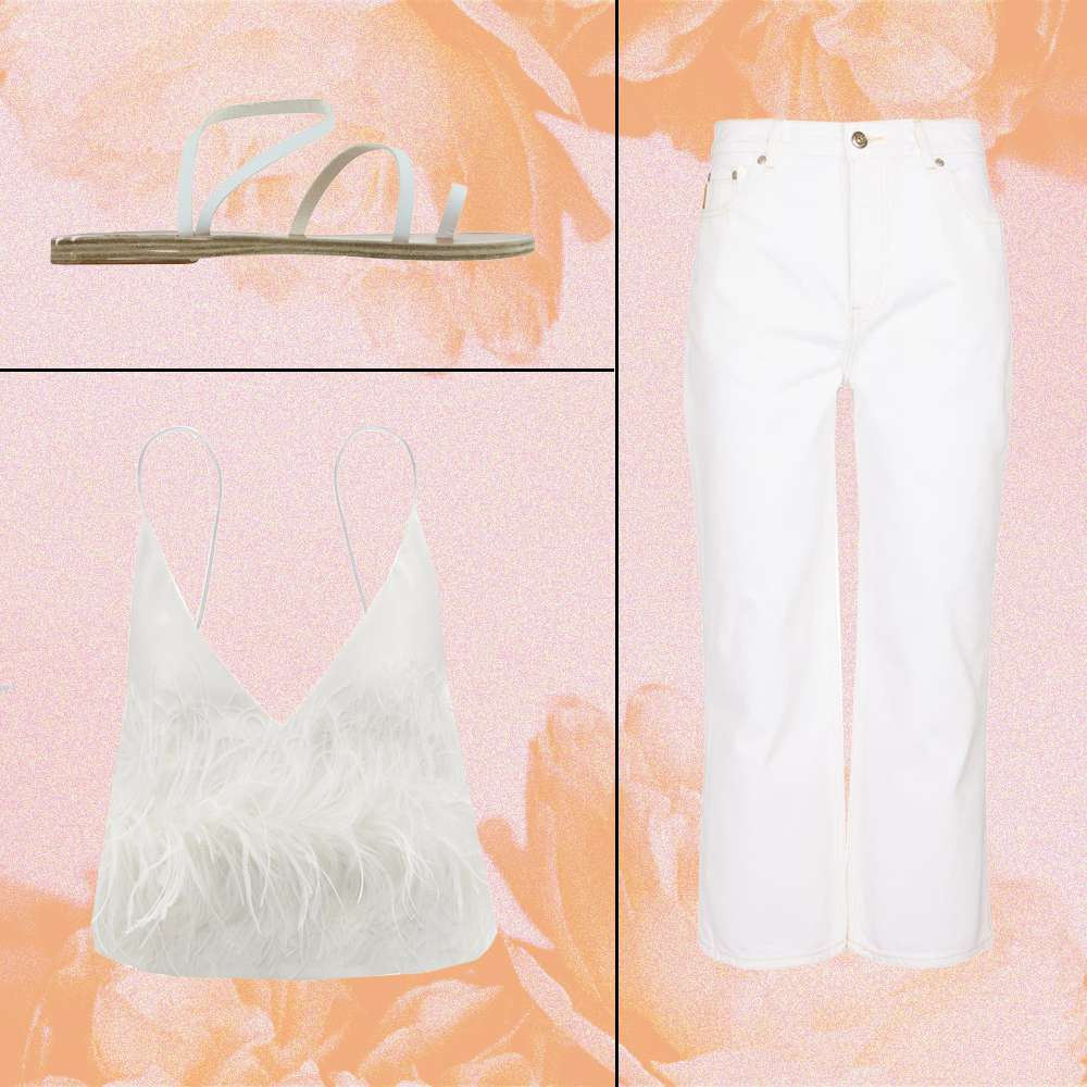 All White Going Out Outfit