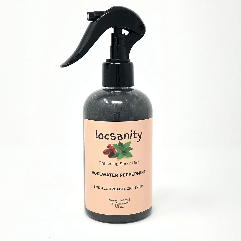 Rosewater and Peppermint Moisturizing and Tightening Spray Mist w/ Black Hawaiian Sea Salt