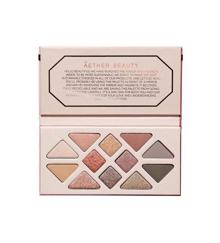 Āether Beauty Rose Quartz Crystal Gemstone Palette