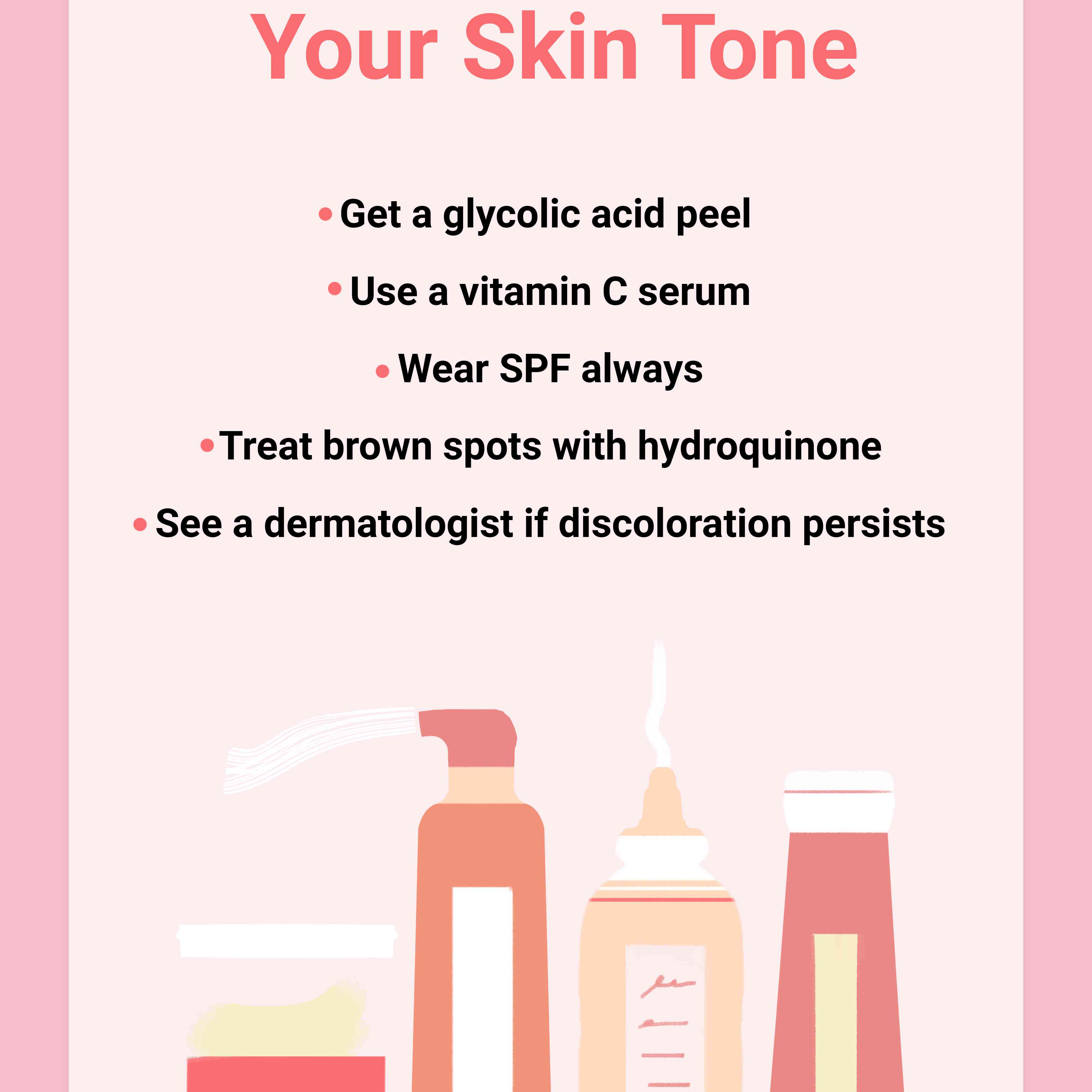 how to even your skin tone