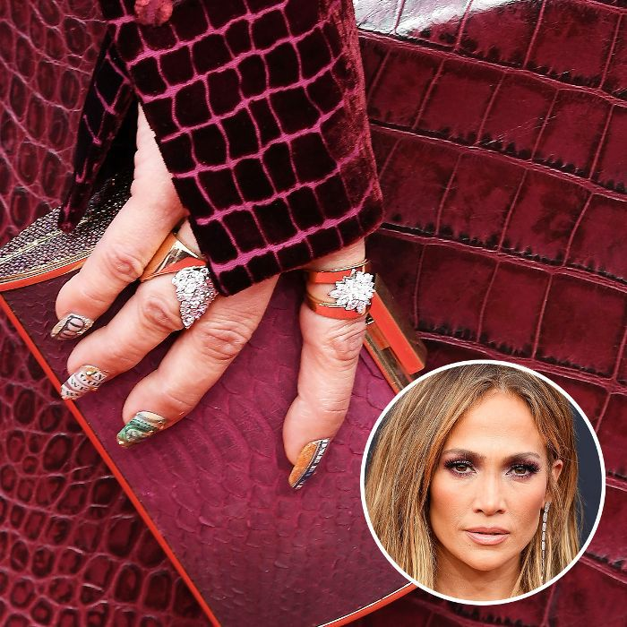 Jennifer Lopez nail art