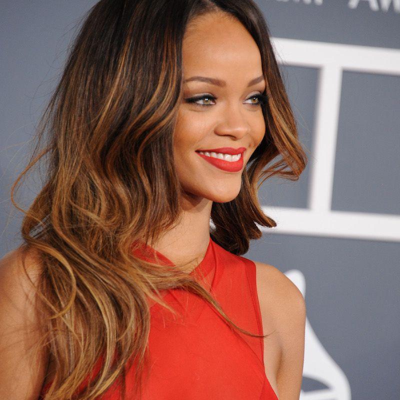 Brown Ombré Hair Rihanna