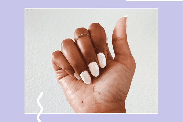 a hand with a manicure