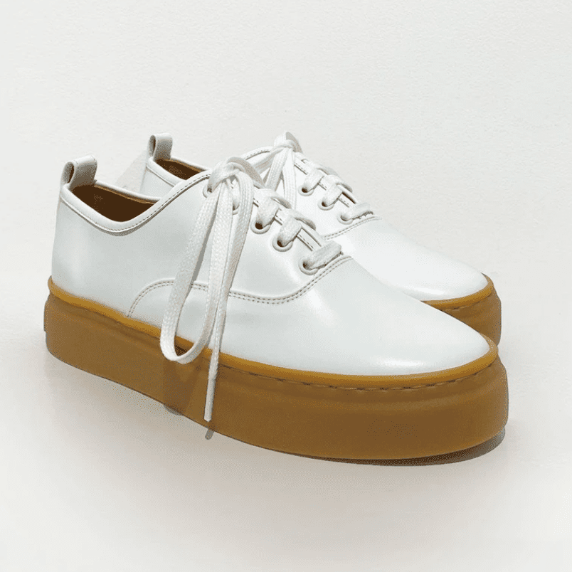 The Frankie Shop Leather Platform Sneakers